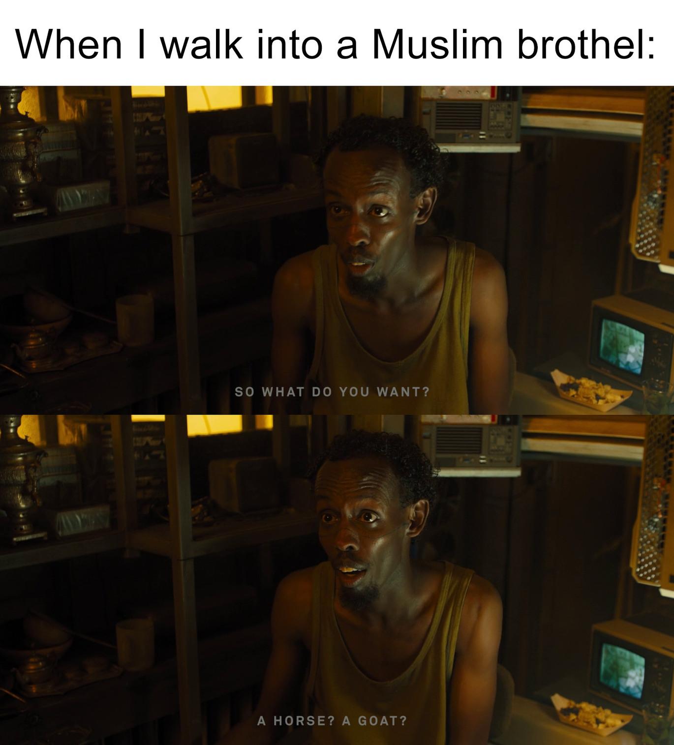 Muslim brothel - meme