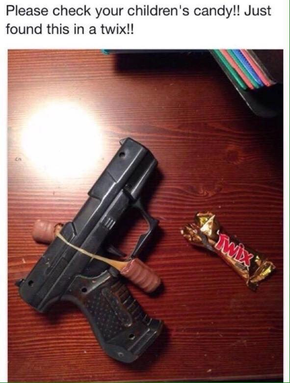 Check your children's candy, Just found this in a Twix - meme
