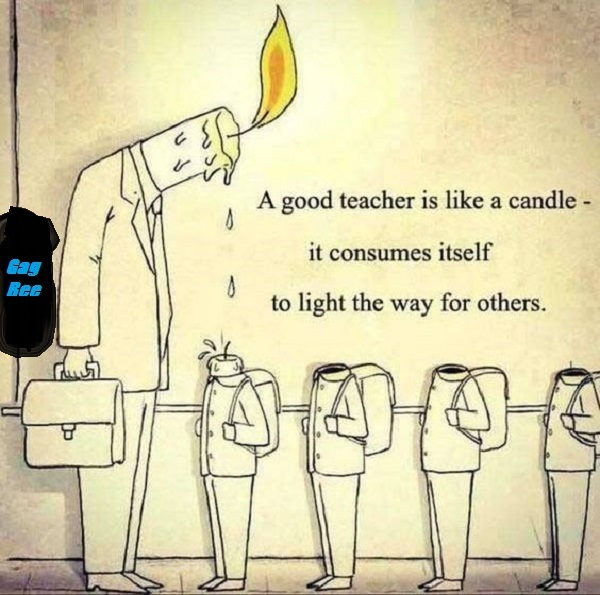 A good teacher is like a candle | gagbee.com - meme