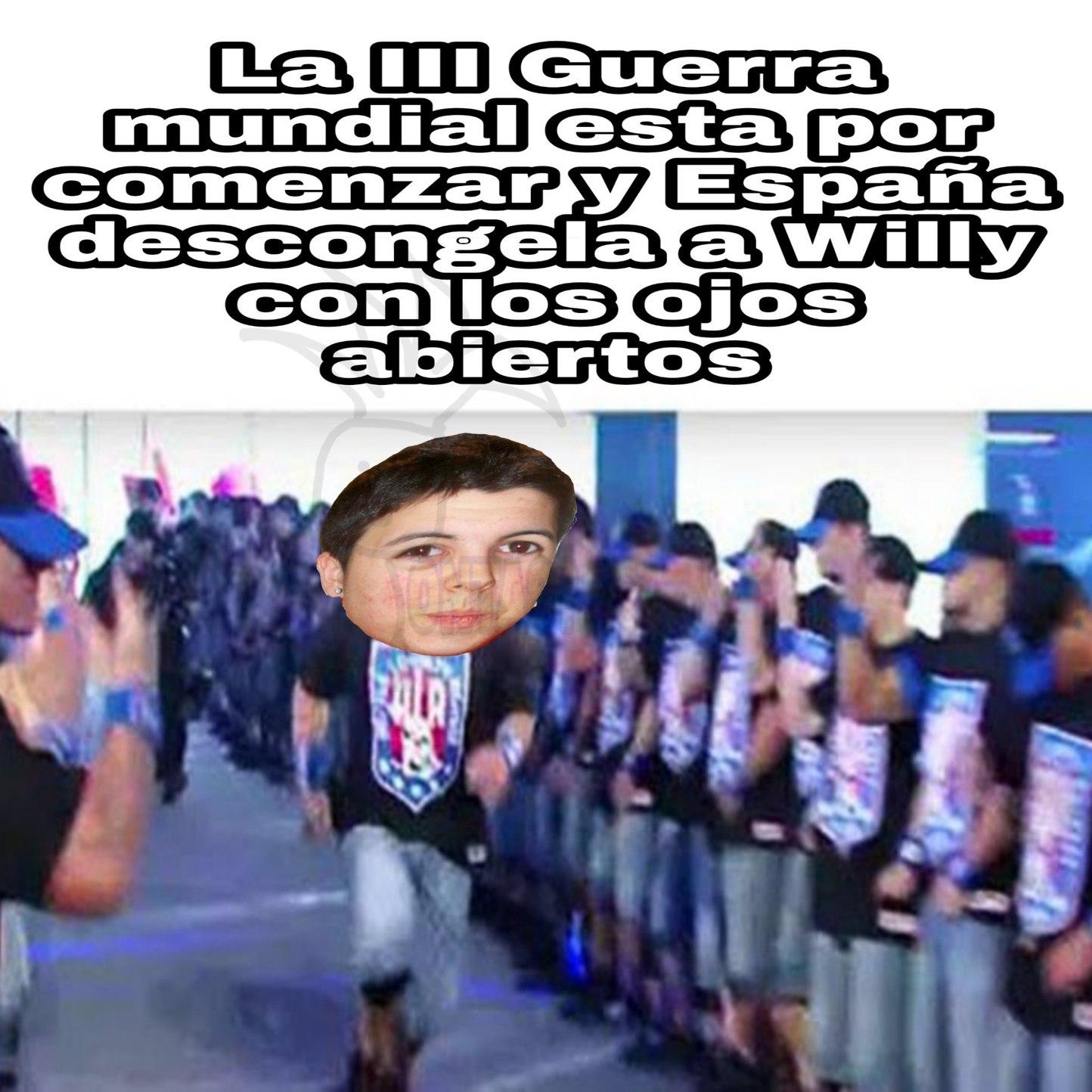 WILLYREX CON LOS OJOS ABIERTOS - meme