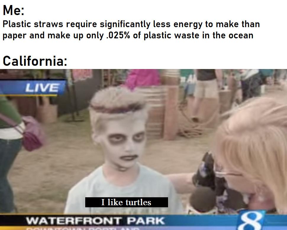 Plastic Bad - meme