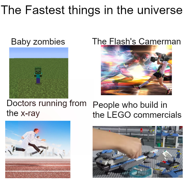 The fastest things in the universe - meme