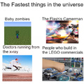 The fastest things in the universe