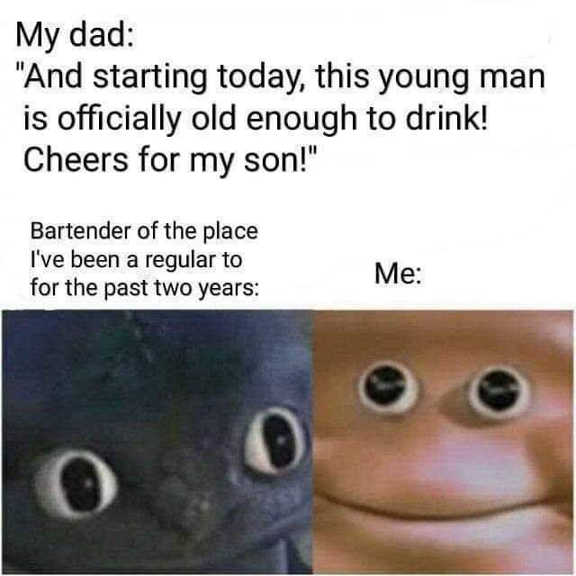 I started drinking when i was a wee lad - meme