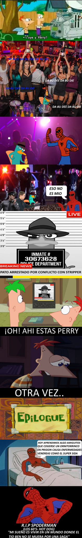 Ahí esta Perry - meme