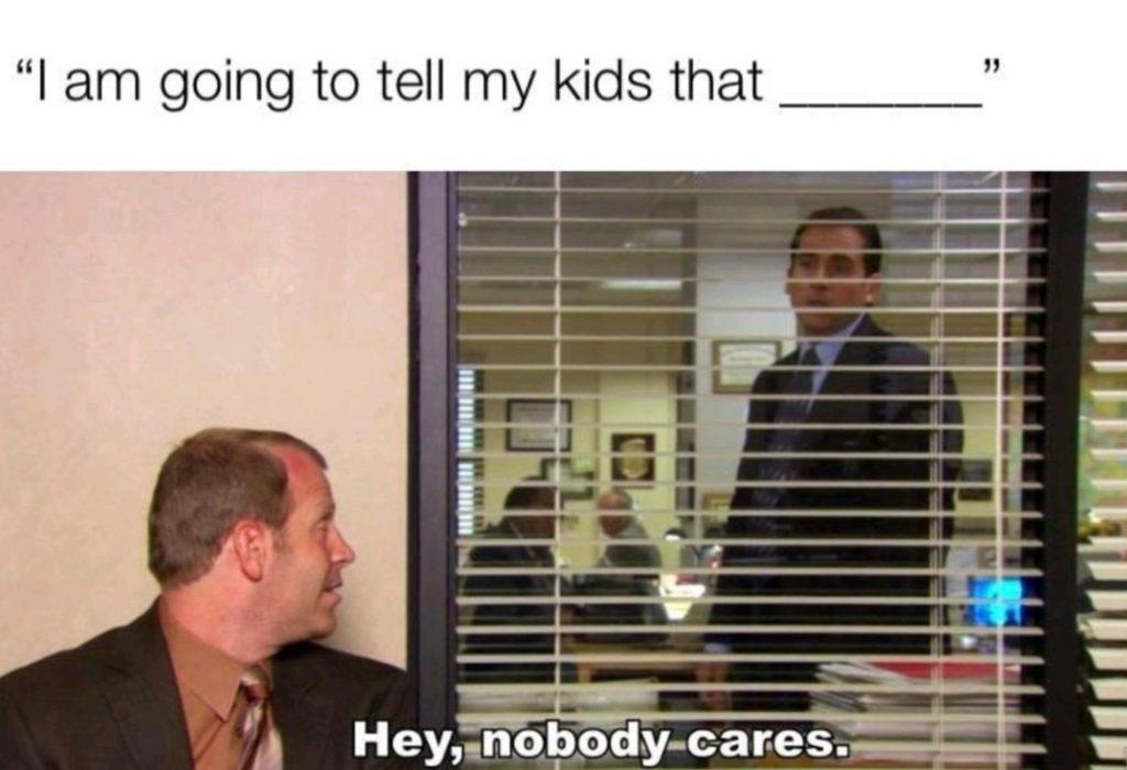 Hey, nobody cares | Gag Bee - meme