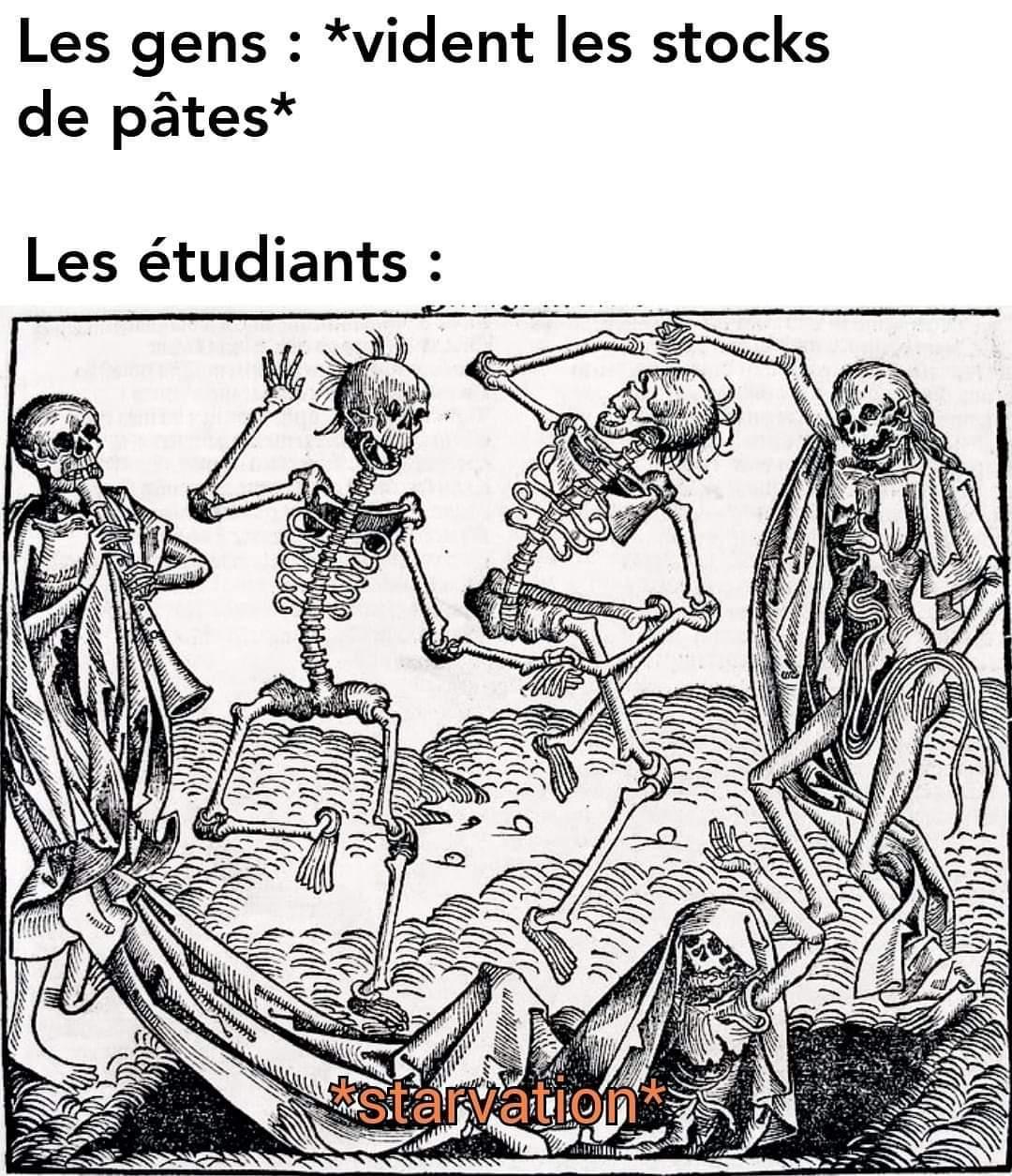Épidémie engrange famine - meme