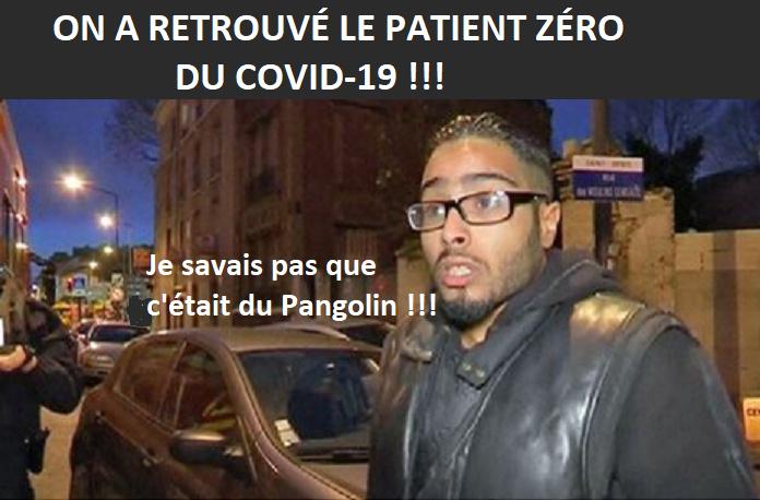 On a retrouvé le patient zéro du covid-19 ! - meme