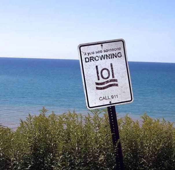 If you see someone drowning lol - meme