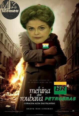 a menina que roubava a Petrobras - meme