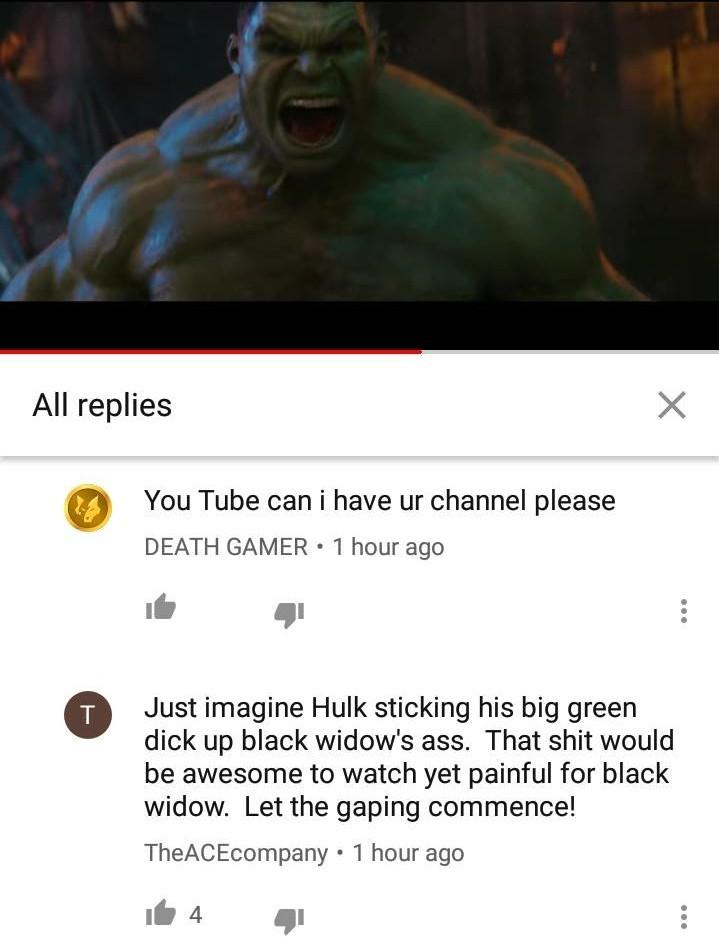 *thinks back to a certain hulk and black widow gif* - meme