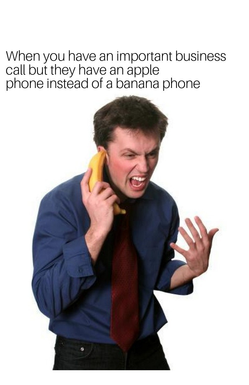 Banana phone vs. Apple phone - meme