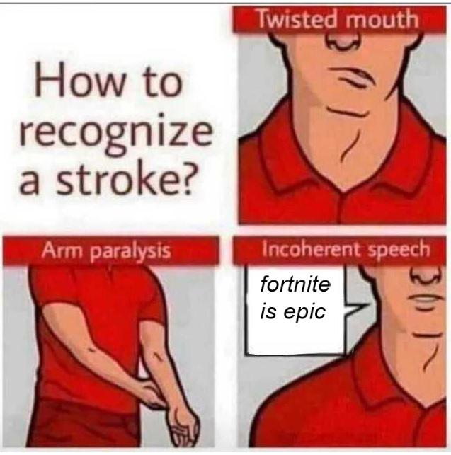 stroke - meme
