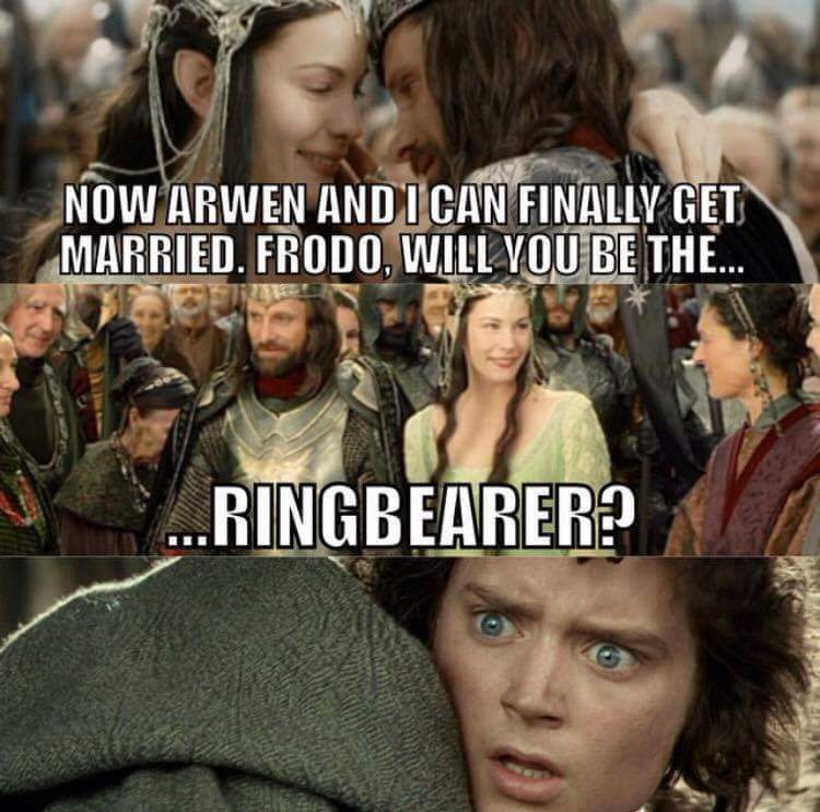 Will you be my ringbearer - meme