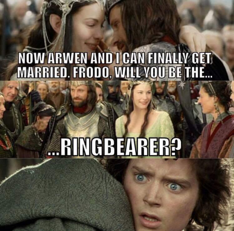 Will you be my ringbearer - meme