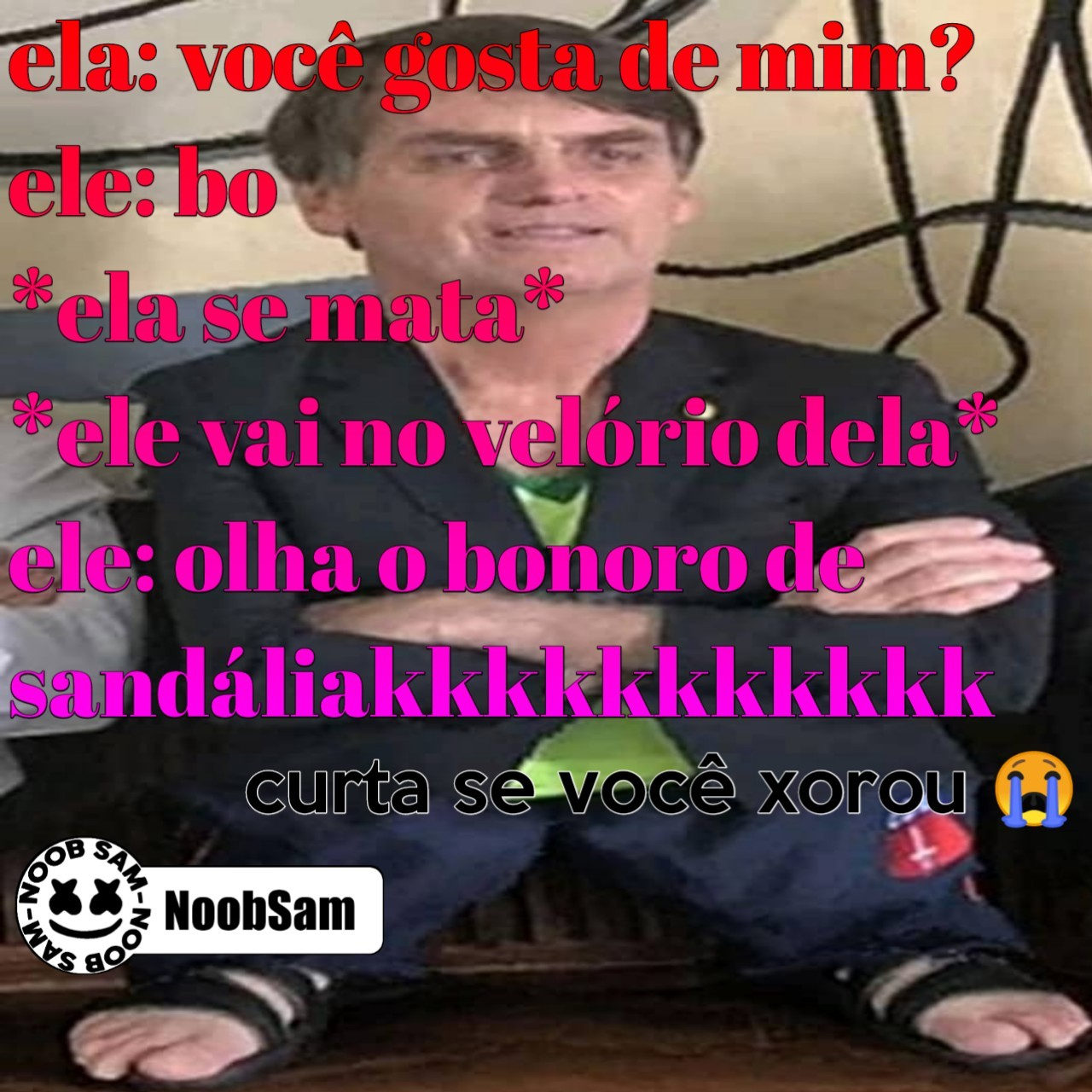 Olha o bonoro de sandaliakkkkkkkkk - meme