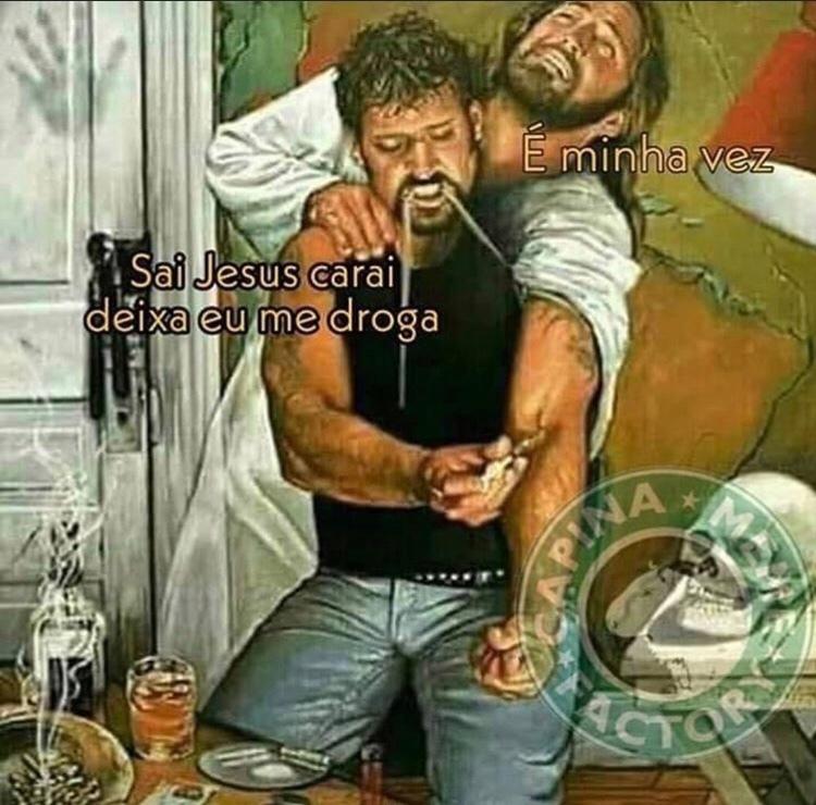 Injetando Toddynho com Jesus - meme