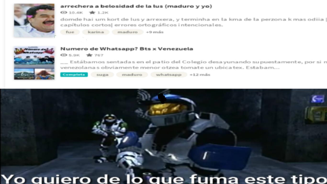 wattpad y maburro - meme