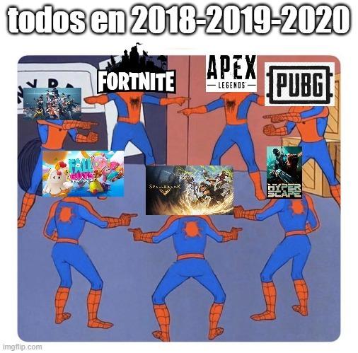 Guerra de los battle royale - meme