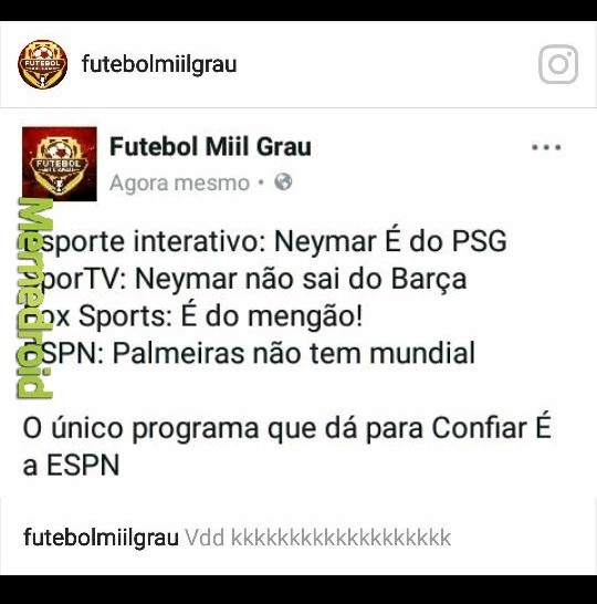 Até o titulo tem mundial e o Palmeiras não - meme