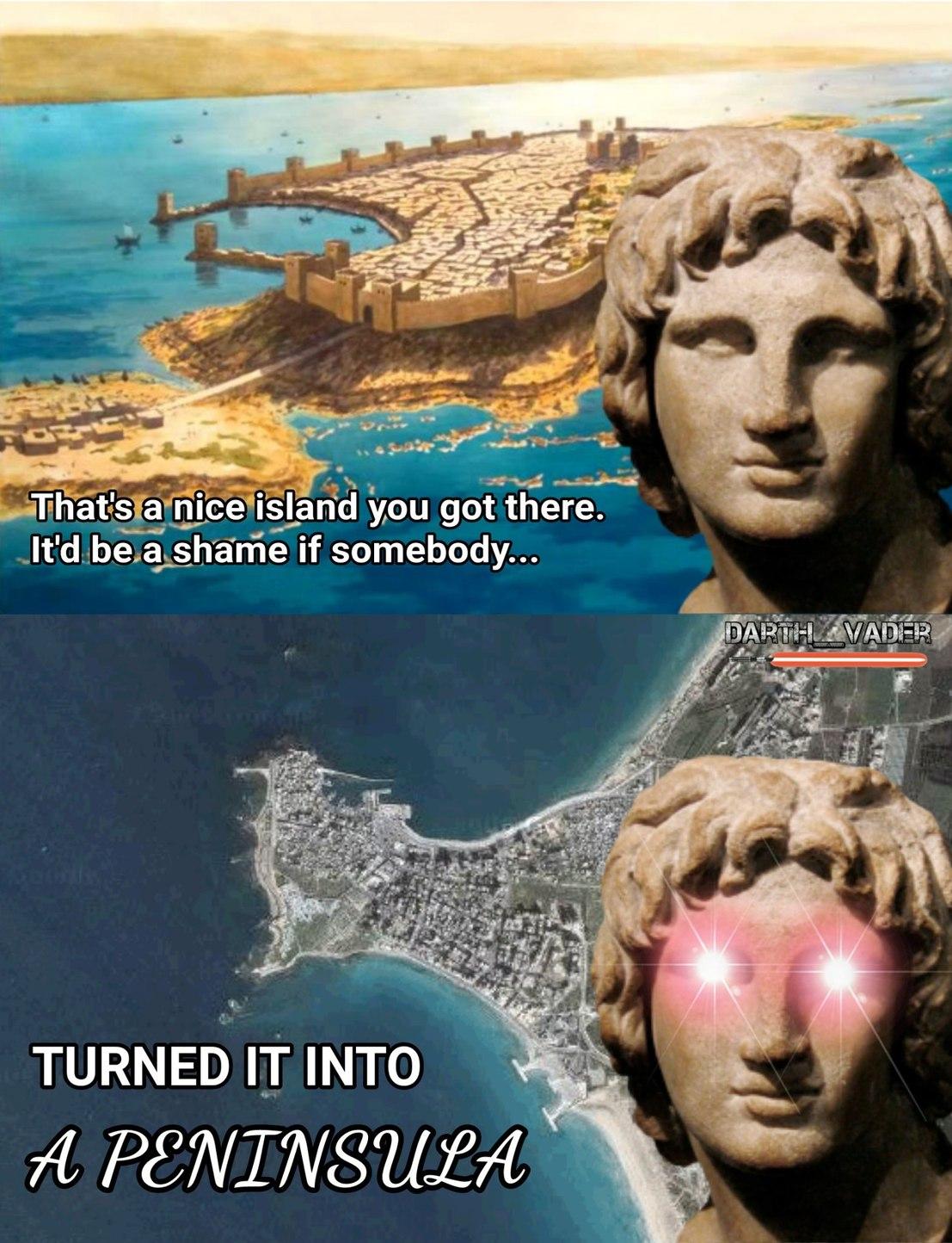 Alexander the Great's Siege of Tyre - meme