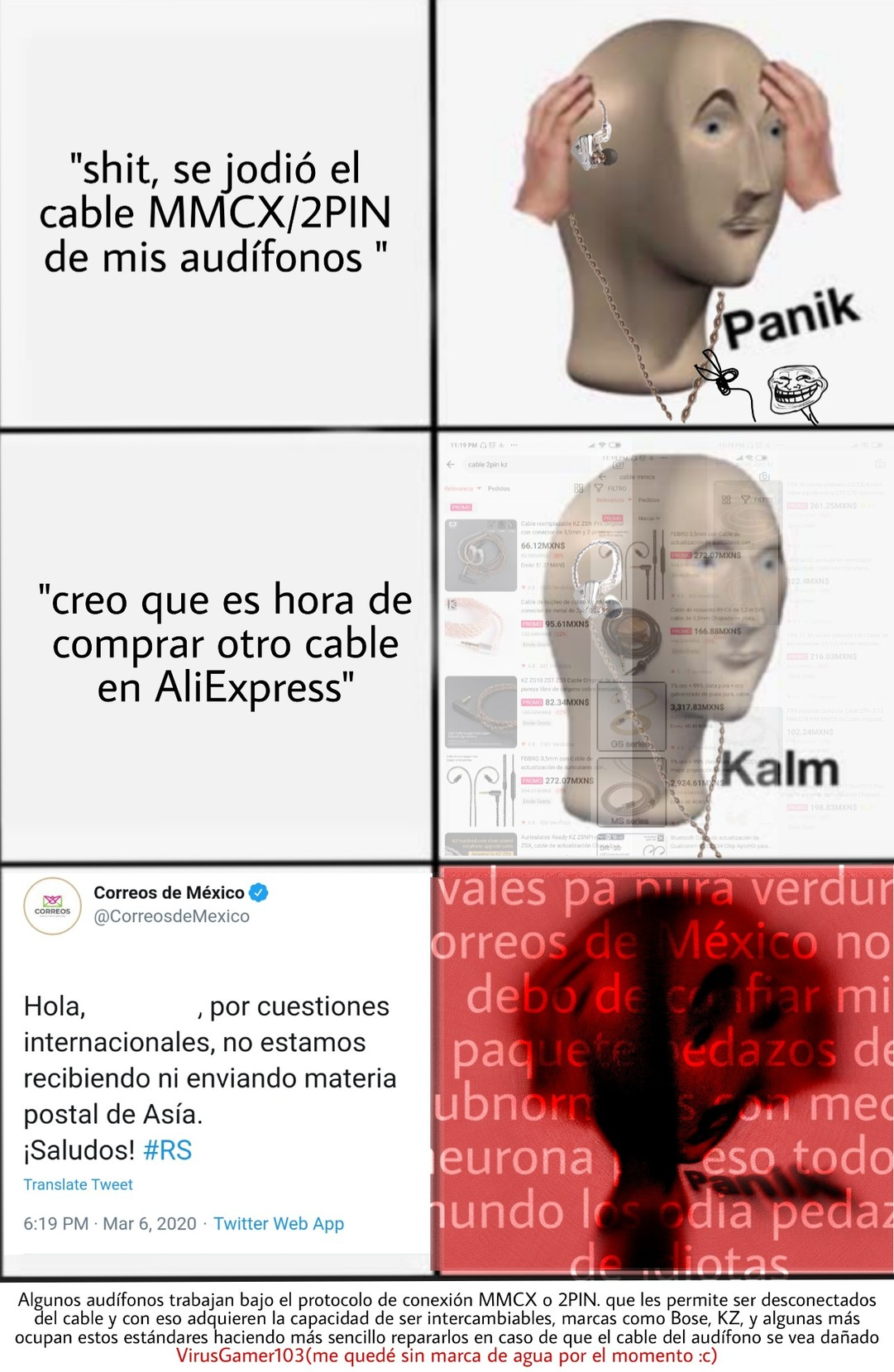 Maldito correos de México - meme
