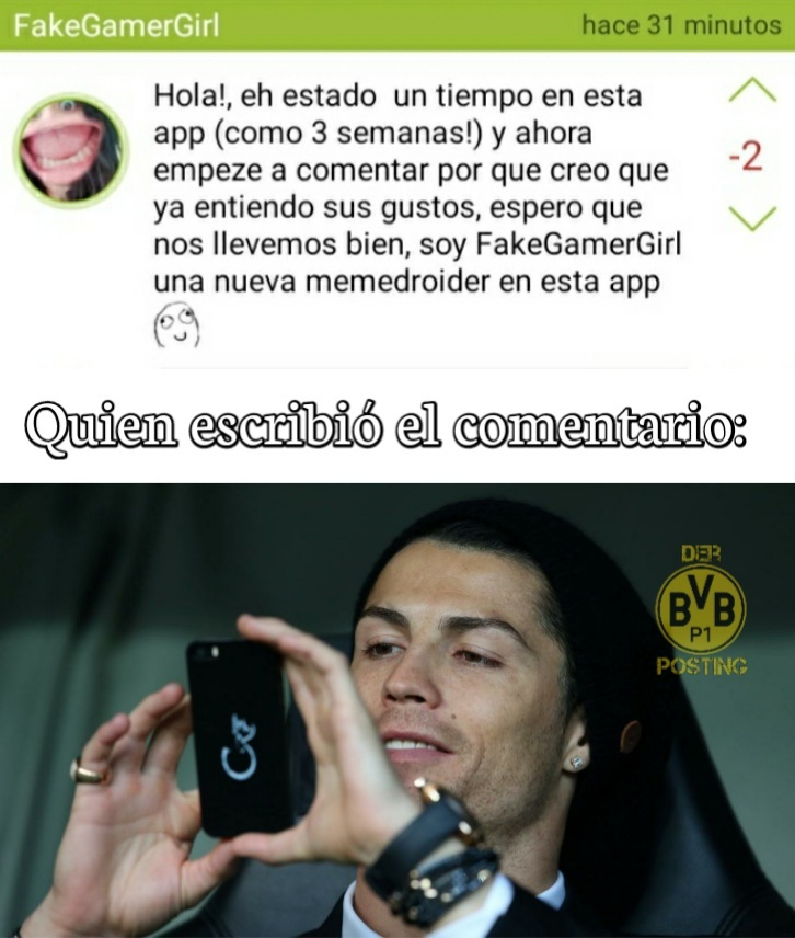 Ein großer Ronaldo. - meme