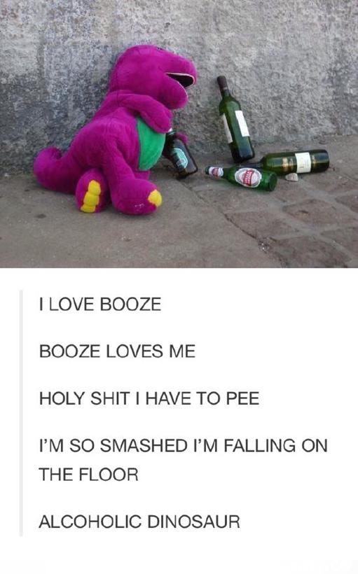 alcoholic dinosaur - meme