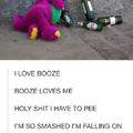alcoholic dinosaur