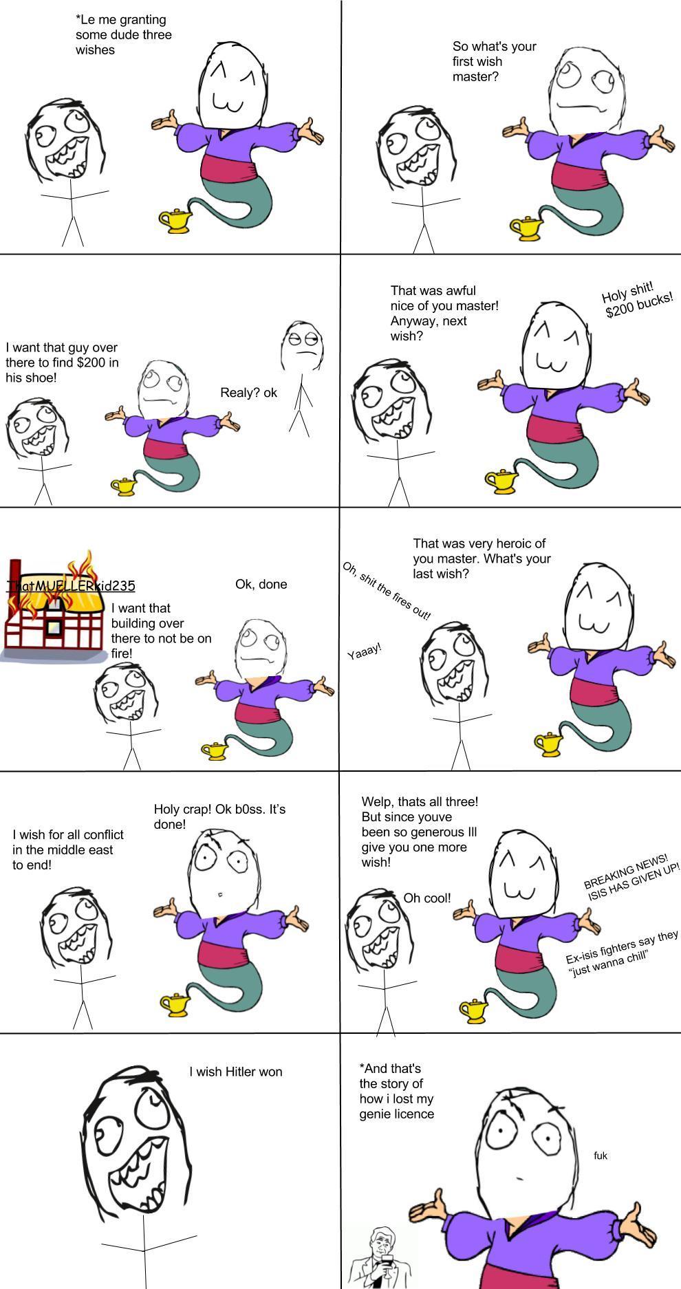 its a half genie memie! - meme