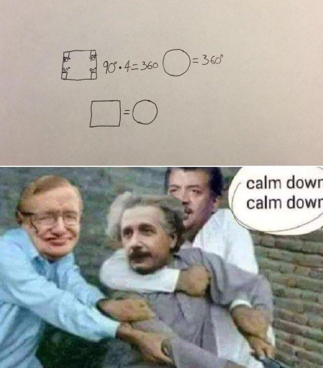 square equals circle - meme