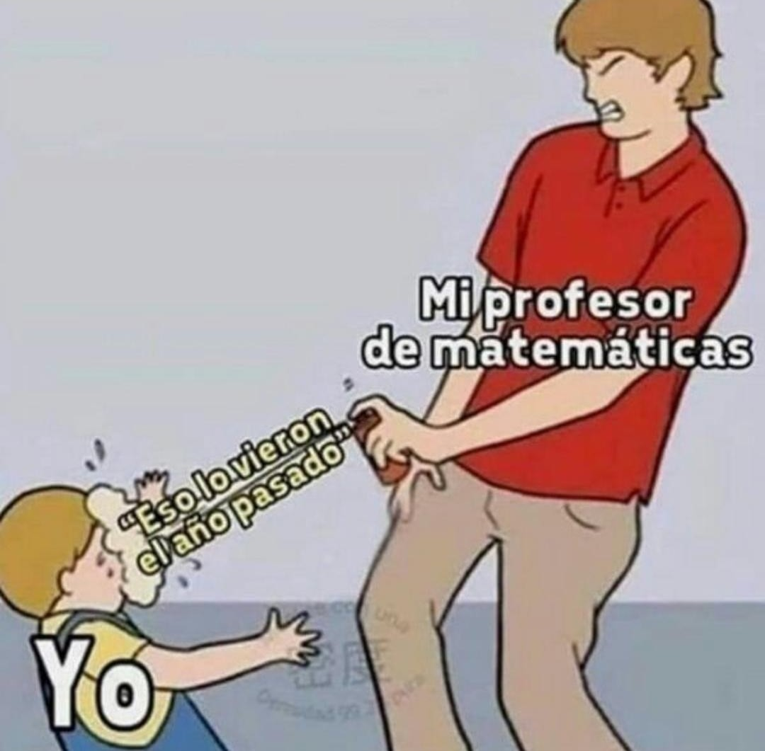 Matemáticas - meme
