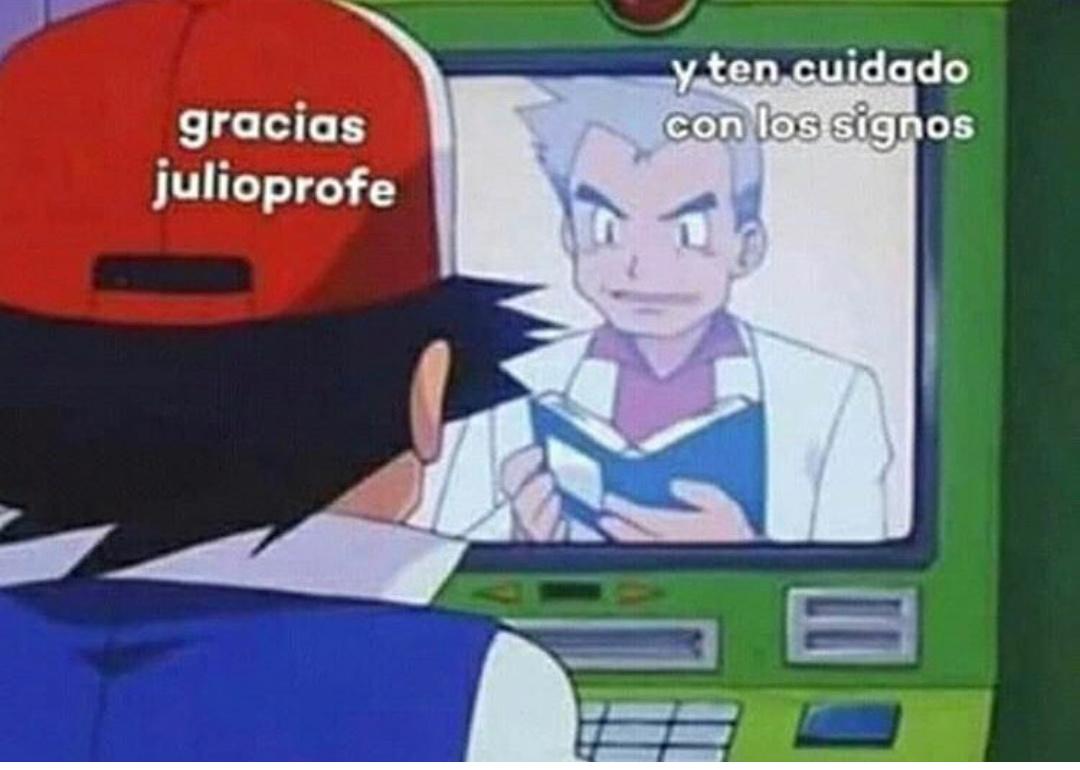 Julio profe te queremos - meme