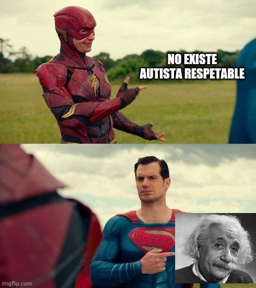 Contexto: en 2007 un estudio confirmo que Albert Einstein padeció de autismo en su niñez - meme