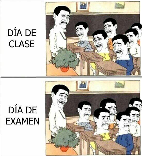 Días de clase - meme