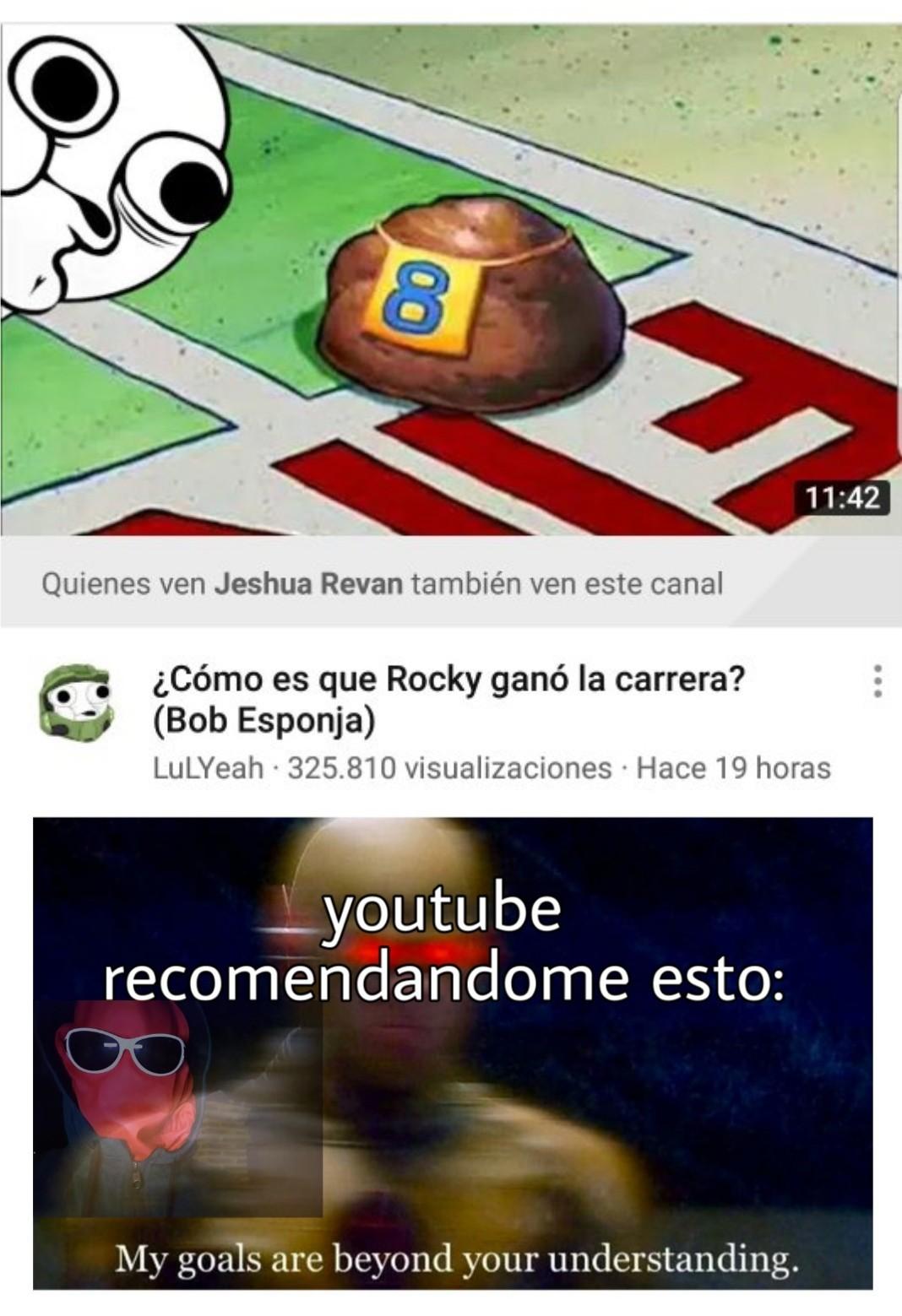 Porque youtube recomienda weas tan raras - meme