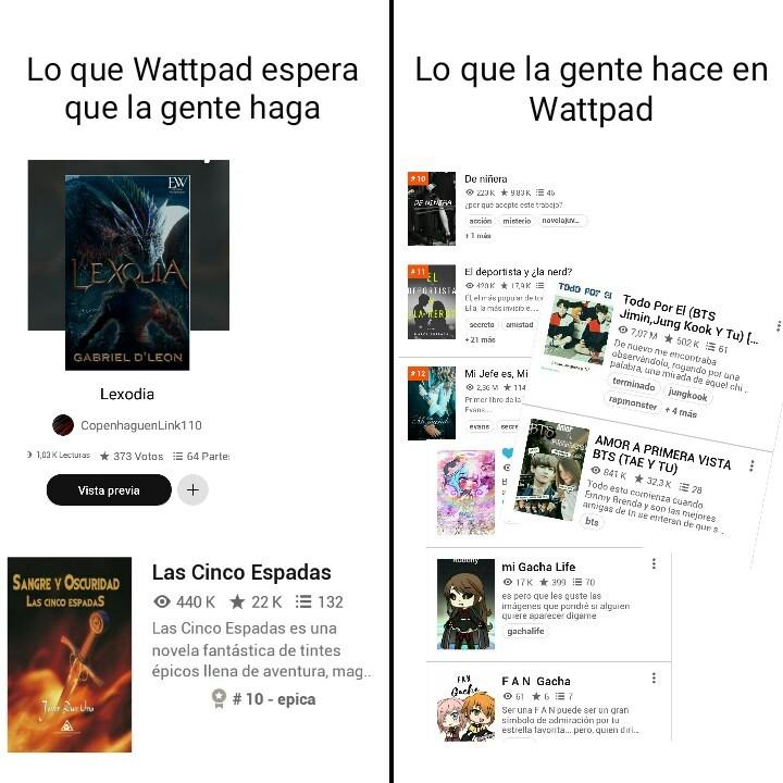 Deep Wattpad - meme