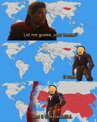 El Imperio Mongol fue el Imperio TERRESTRE más grande de la historia - meme