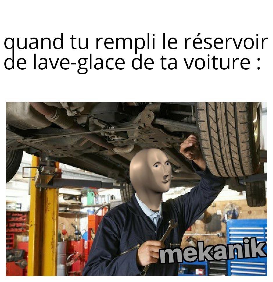 Le liquide bleu - meme