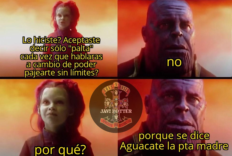 Digan Aguacate conchasumadre - meme