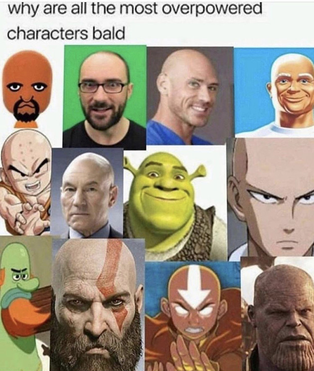 Bald gang rise up - meme