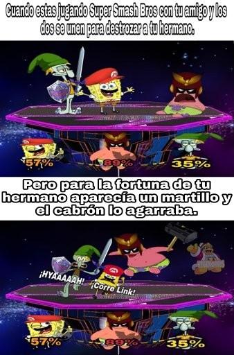 El Smash Bros jaja - meme