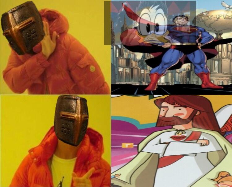 El dibujo de Jesús estaba en la salida de mi escuela - meme