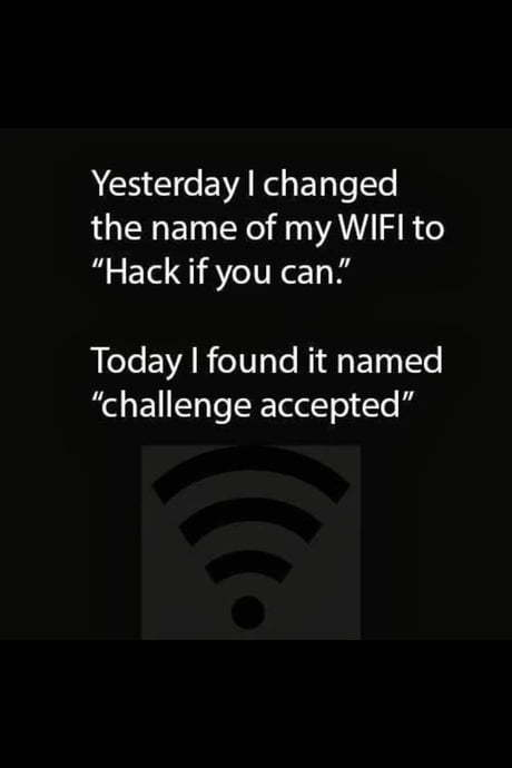 WiFi password - meme