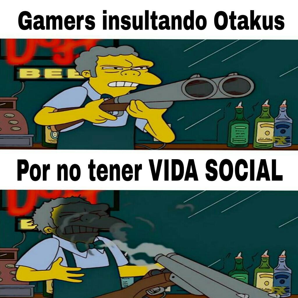 Gamers y Otakus - meme