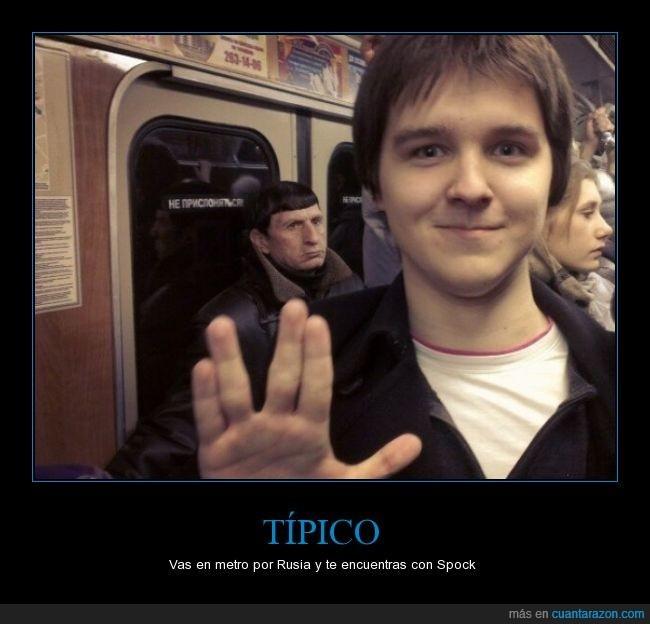 Cuando te encuentras con spock - meme