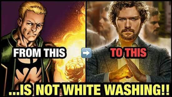 So tired of hearing complaints of white washing - meme