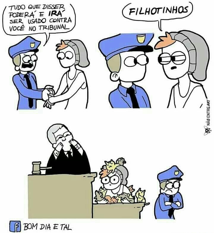 quando vc manja das justiças! - meme