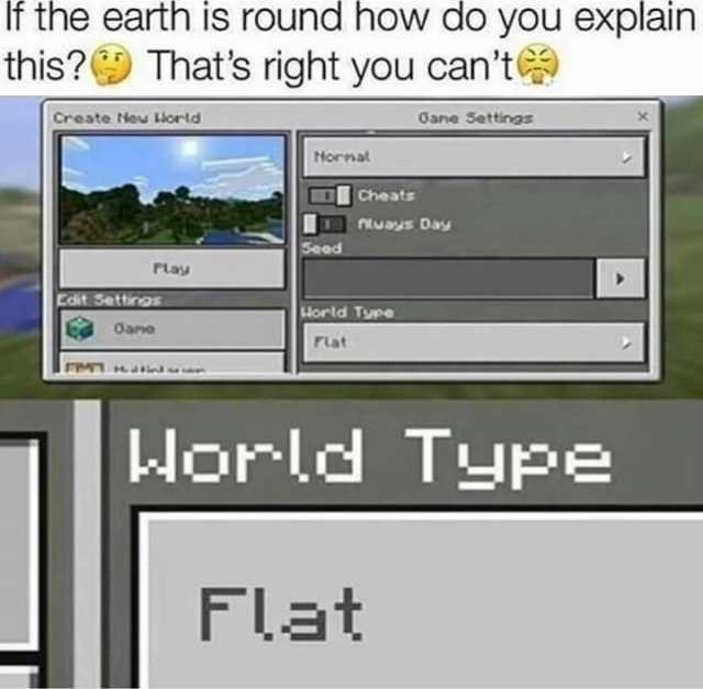 Flat Earth - meme