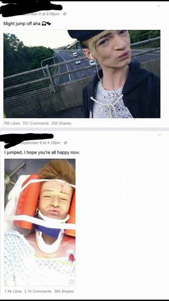 First comment junps - meme